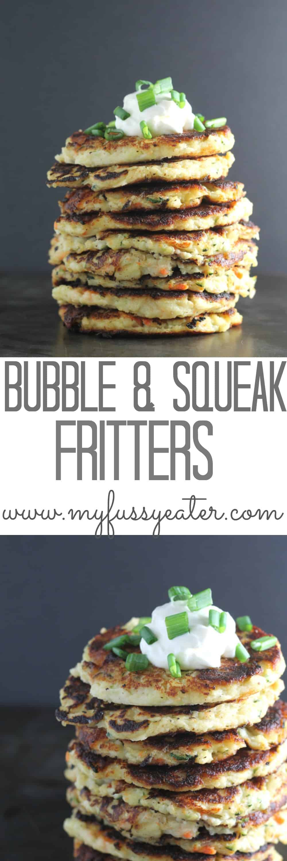 bubble & squeak fritters pinterest pin