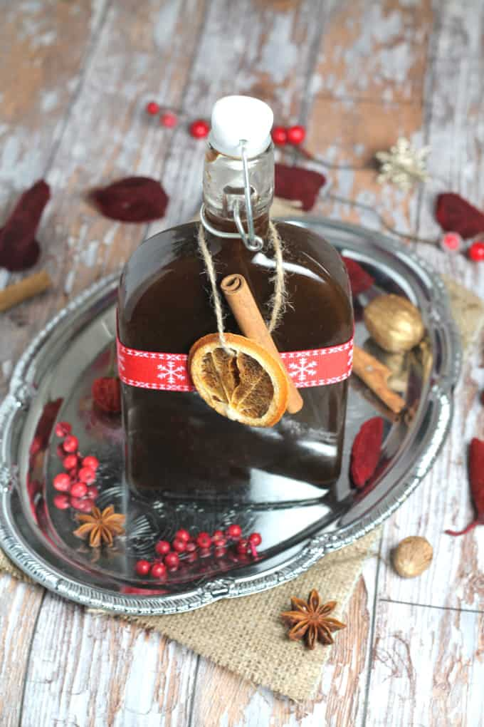 homemade mulled wine syrup no sugar