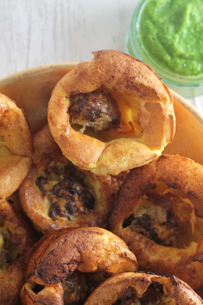 sausage meat mini toad in the hole