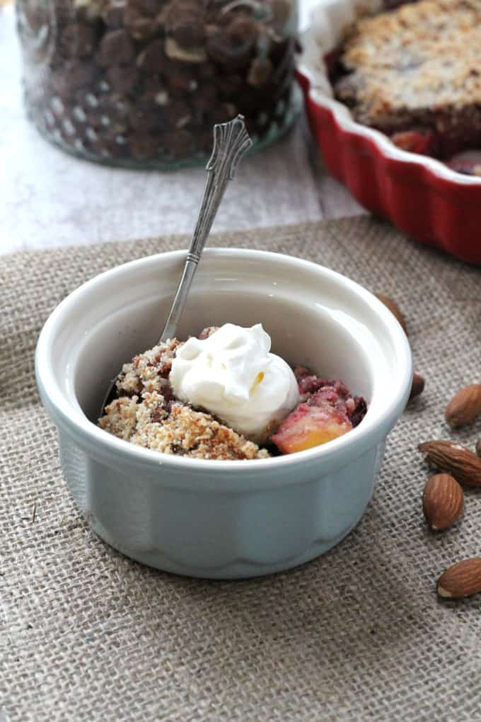 winter fruit crumble vegan