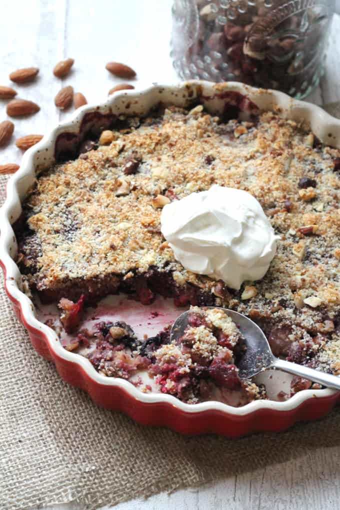 no grain berry apple crumble