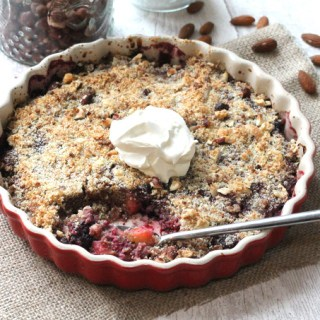 gluten free oat free apple berry winter crumble