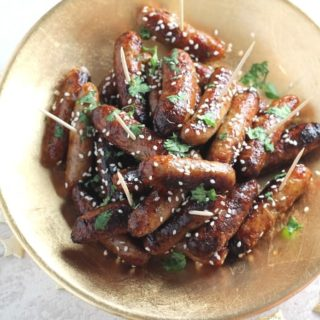 Sticky Asian Cocktail Sausages