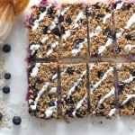 blueberry oat breakfast bar yogurt topping
