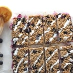blueberry oat breakfast bar yogurt drizzle topping