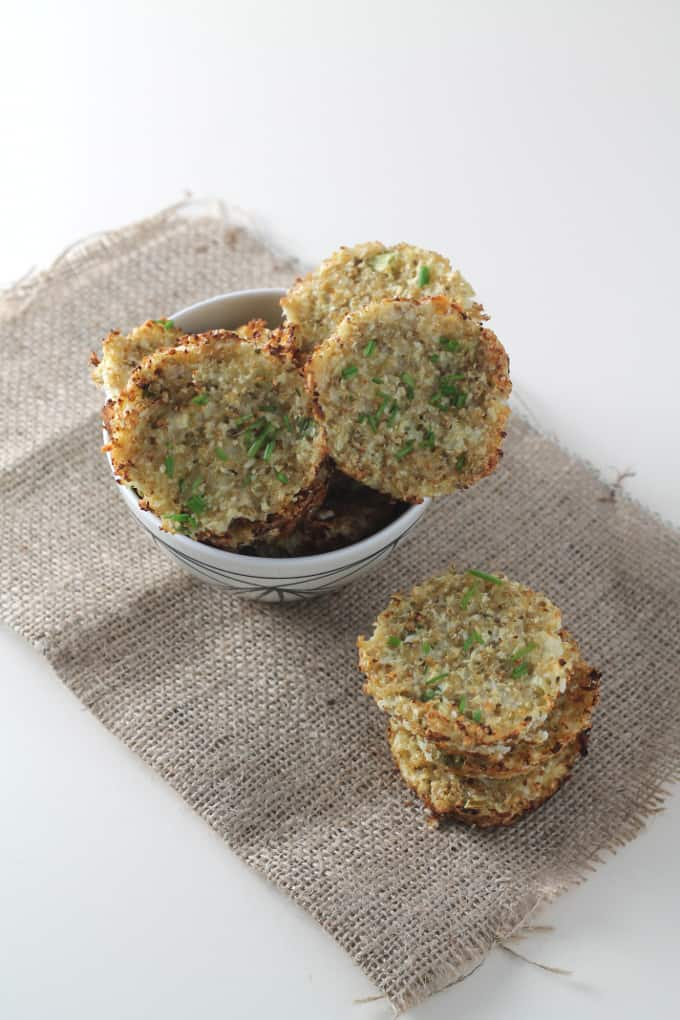quinoa and cauliflower bites