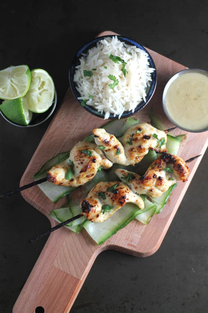 easy chicken satay skewers for kids