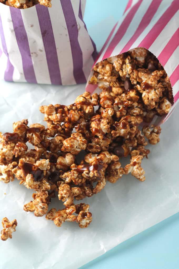 salted caramel chocolate popcorn
