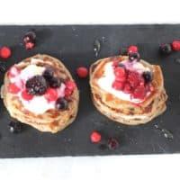 Mini Coconut & Banana Buckwheat Pancakes