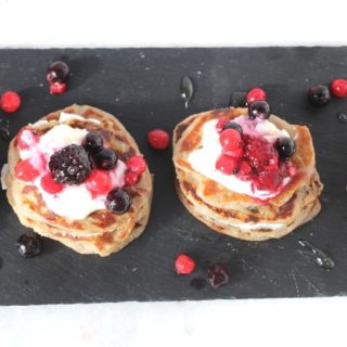 Mini Coconut & Banana Buckwheat Pancakes