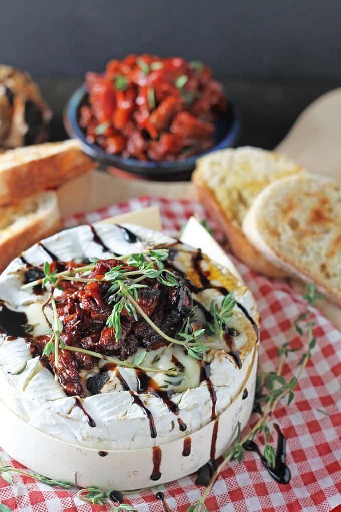 Baked Camembert with Black Garlic & Balsamic Sund-Dried Tomatoes | My Fussy Eater Blog