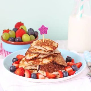 Pancakes made with just two ingredients. Gluten, dairy and sugar free. Perfect for baby led weaning and older children too! | My Fussy Eater Blog