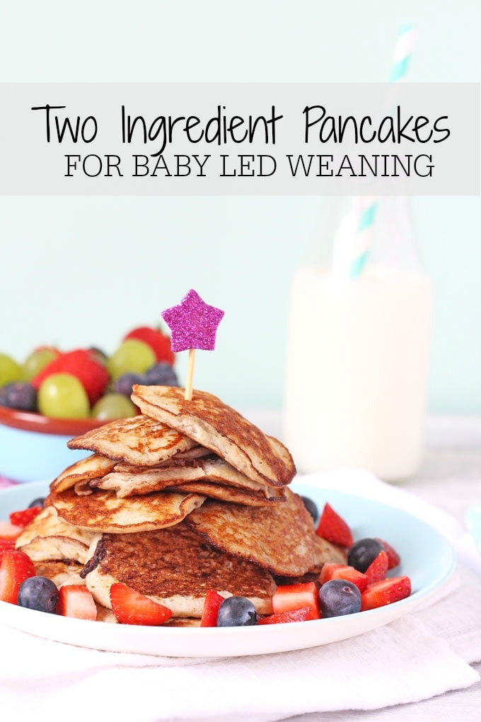 two ingredient pancakes for baby led weaning