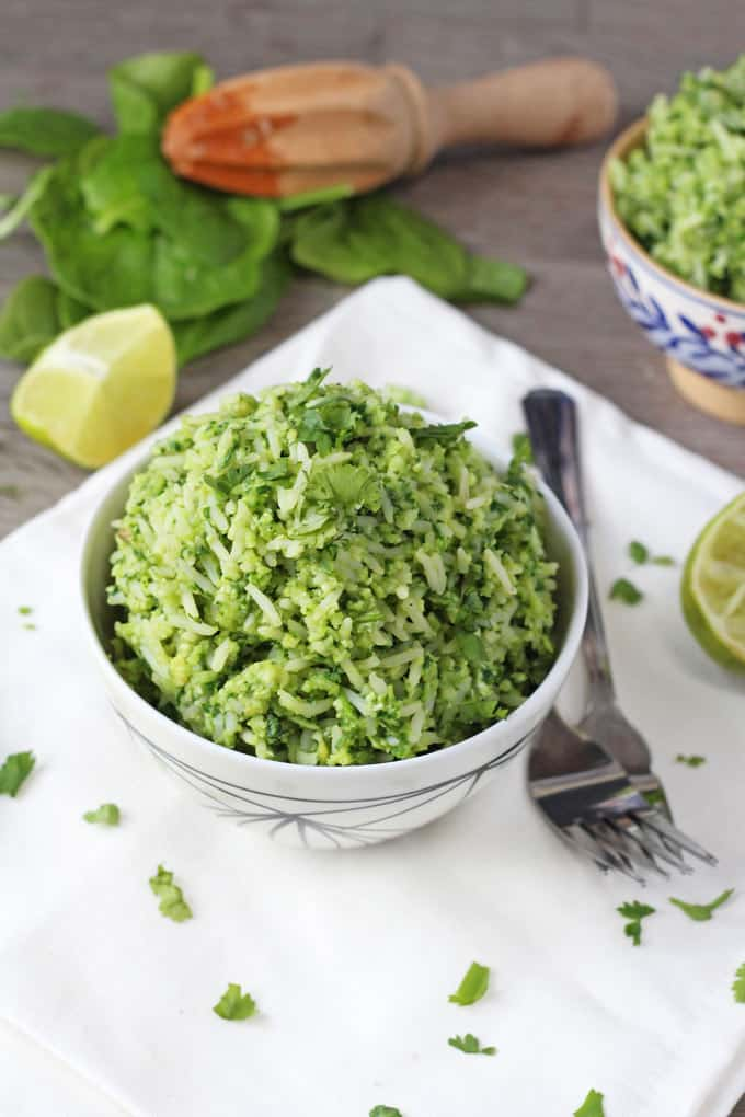 Secret Veggie Green Rice. Contains THREE portions of vegetables. And so good the kids will never know! | My Fussy Eater Blog