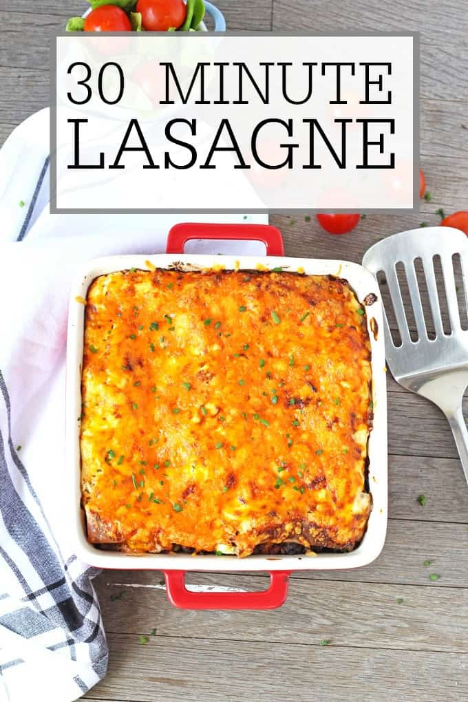 A super speedy recipe for lasagne ready in just 30 minutes. Perfect for mid week meals!
