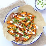 Boost the nutritional content of your kids' meal with these skin on baked Sweet Potato Fries