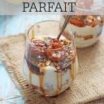 A delicious breakfast parfait made with honey caramelized bananas, greek yogurt and granola | My Fussy Eater Blog