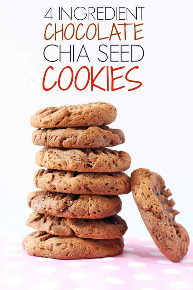 4 ingredient chocolate chia seed cookies