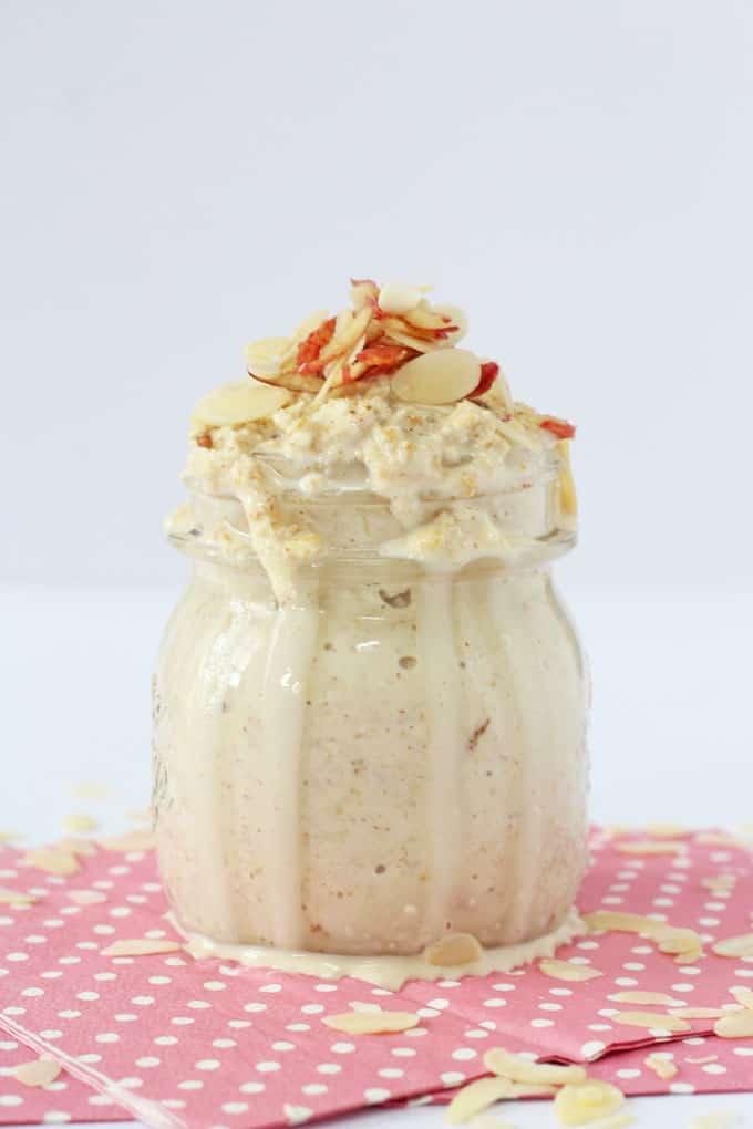 apple & almond butter overnight oats