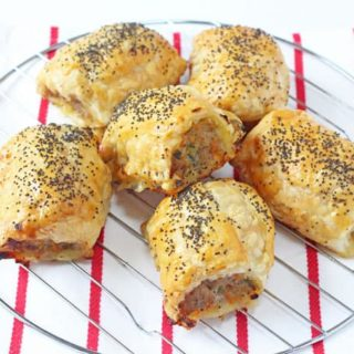 Delicious kid friendly sausage rolls packed with carrot and courgette. Everyone will love these Hidden Veggie Sausage Rolls! | My Fussy Eater blog