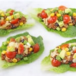 Packed full of protein these Slow Cooker Quinoa Lettuce Cups make a delicious, healthy and fun dinner for the whole family