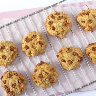 Carrot, Apple & Oat Breakfast Cookies