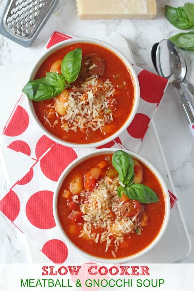 Meatball & Gnocchi Soup