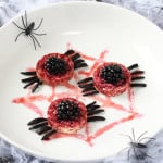 These delicious spooky spiders are the perfect fun and scary treat for your little one's Halloween party, and they're really easy to make. Trick or treat? Good news, they're a junk free Halloween treat!