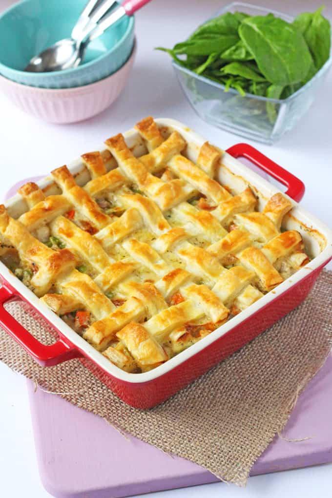 cheesy chicken sausage pie
