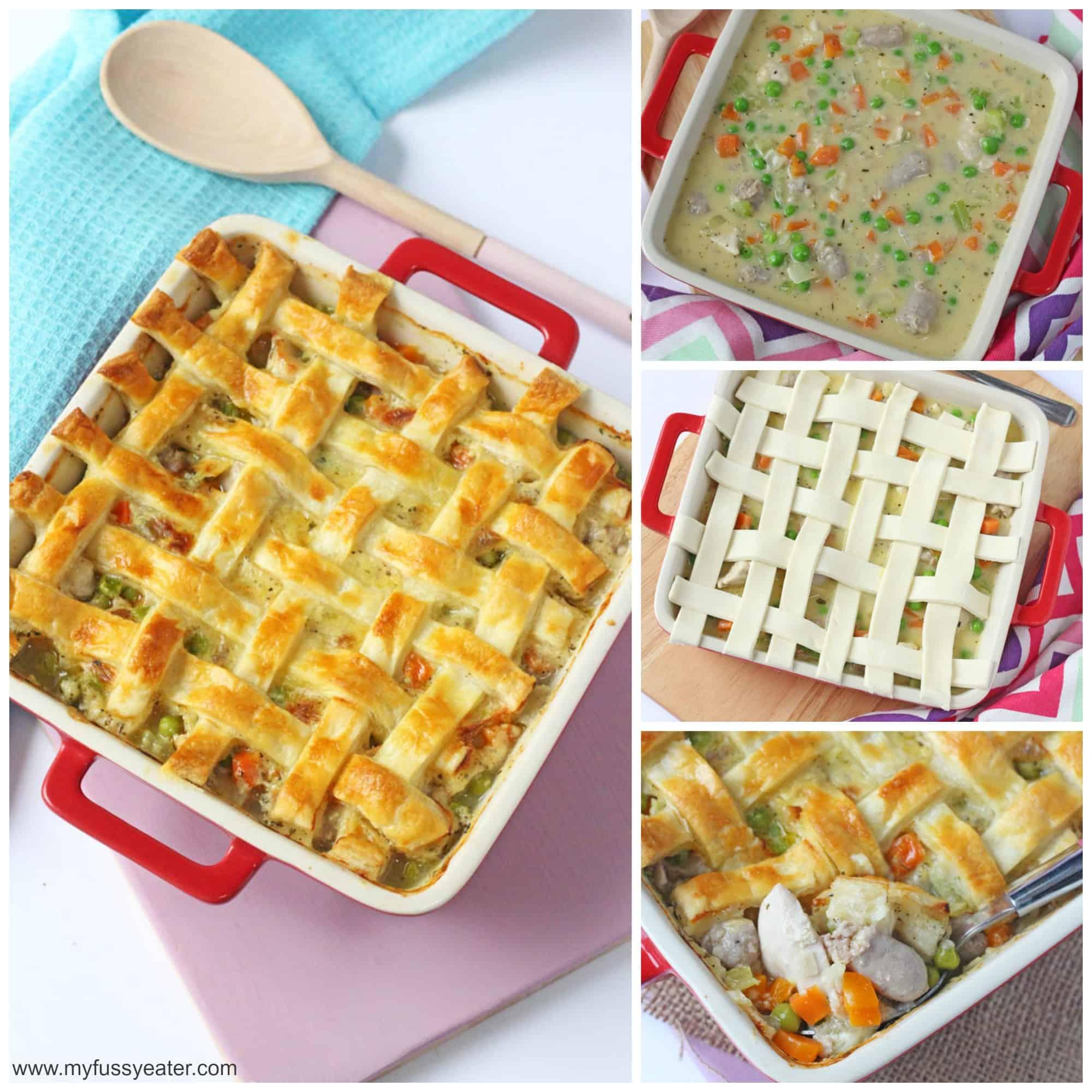 step by step chicken lattice pie recipe