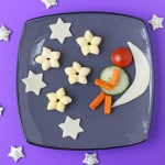 A fun cheese snack for toddlers and older kids made with Organix Cheese Stars, fresh cheese and veggies | My Fussy Eater blog