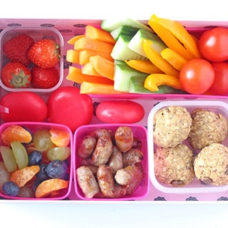 If your kids are constantly asking you to fetch them snacks, try making a snack station in the fridge filled with lots of healthy and filling snacks which they can help themselves to! | My Fussy Eater blog