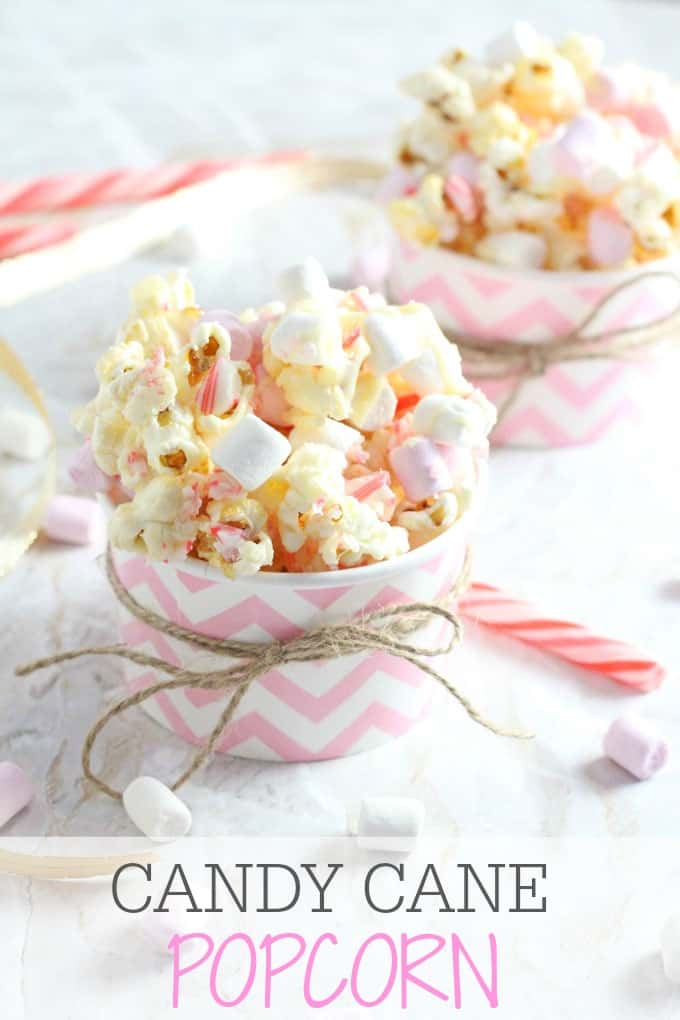 A delicious recipe perfect for Christmas. This Candy Cane Popcorn with White Chocolate and Marshmallows makes a tasty festive treat and can be packaged up as an edible gift too. | My Fussy Eater blog
