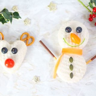 Rudolph & Snowman Christmas Sandwiches for Kids