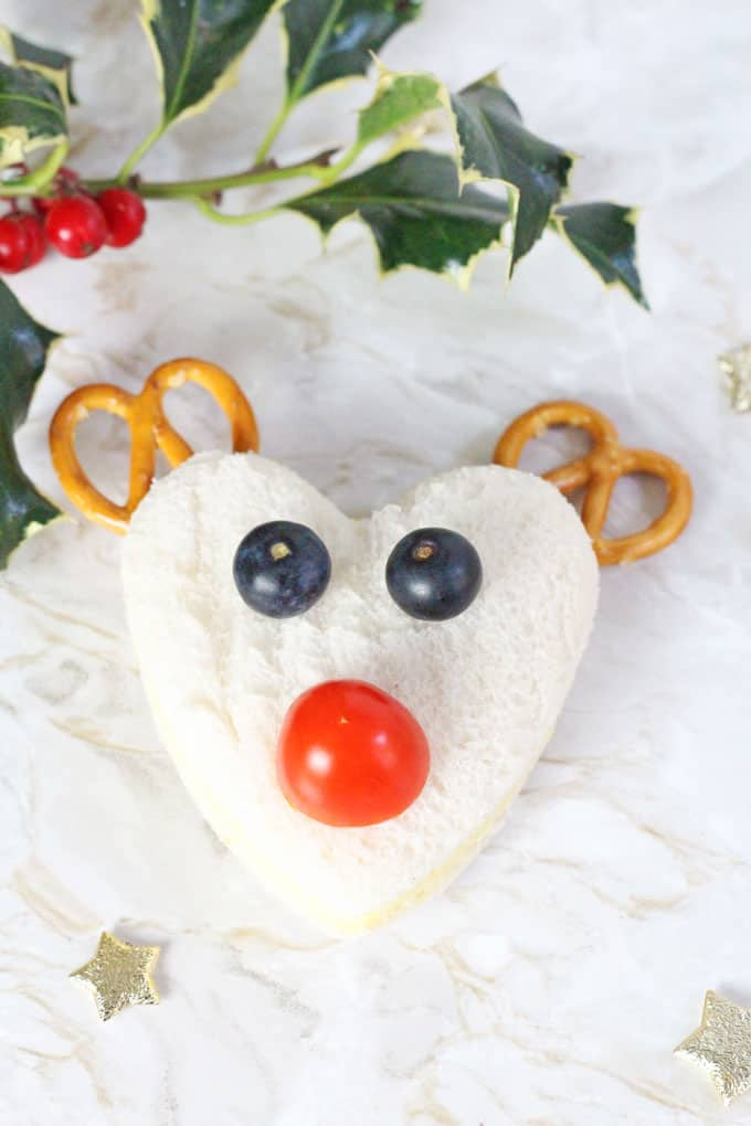 Kids will love getting creative and making these Christmas themed Rudolph and Snowman sandwiches! My Fussy Eater blog