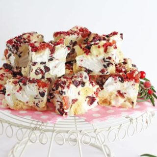 Festive White Chocolate Rocky Road