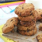 A delicious Oat & Raisin Cookie made healthier with with reduced sugar and whole wheat flour. The perfect snack for kids after school | My Fussy Eater blog
