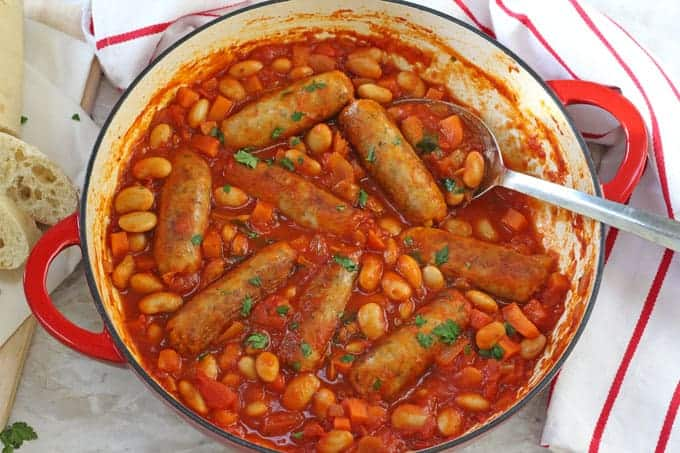 Easy Sausage & Butterbean Casserole - My Fussy Eater | Easy