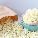 Make fresh homemade popcorn in the microwave with no oil using just a brown paper bag! | My Fussy Eater blog