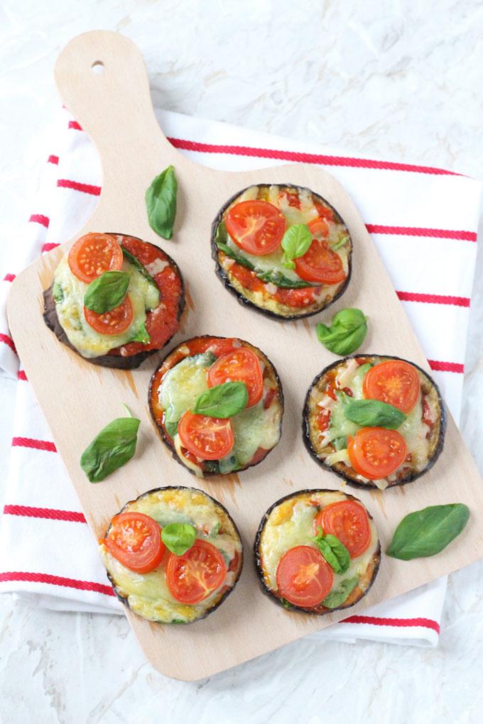 Mini Aubergine Pizzas