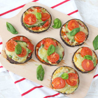 Sneak some extra veggies into your family's diet with these delicious Mini Aubergine or Eggplant Pizzas!
