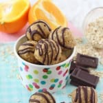 Delicious, healthy. no bake Chocolate Orange Energy Bites. A super easy gluten free snack the whole family will love!