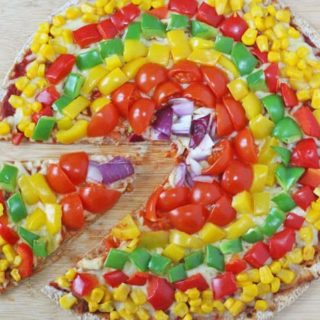 Rainbow Veggie Pizza for Kids