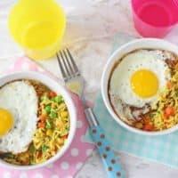 Vegetable Rice & Egg Bowl | 5 Minute Meal