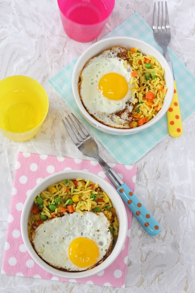 5 Minute Vegetable Rice & Egg Bowl