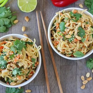 Satay Vegetable Noodles | Easy 5 Minute Meal