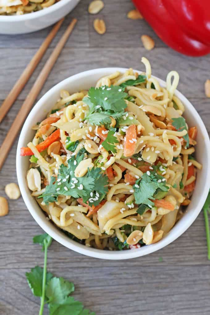 satay vegetable noodles