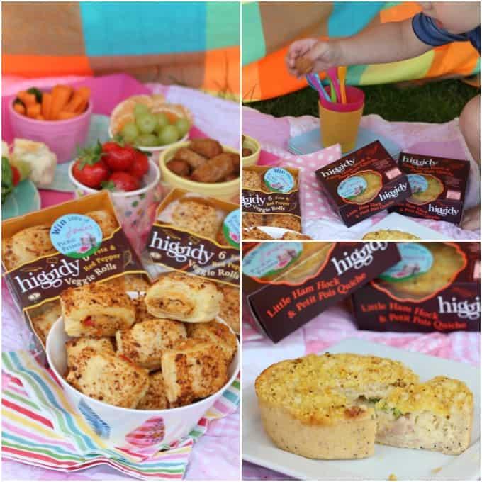 A spontaneous backyard picnic with Higgidy