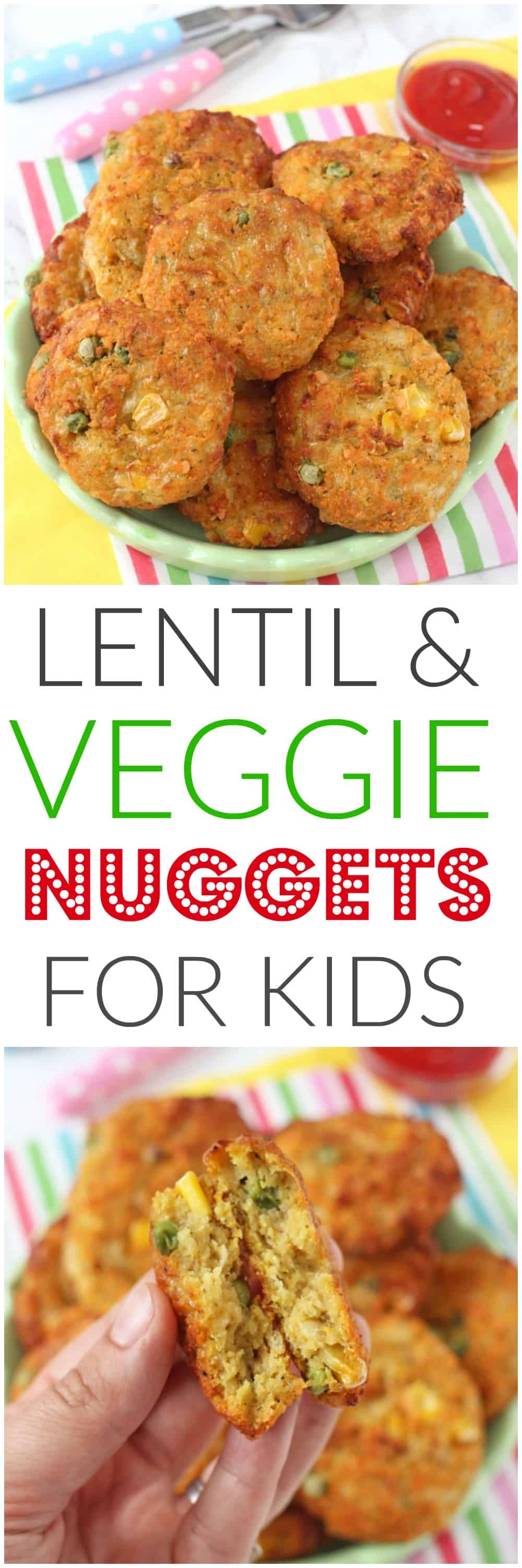 Lentil Veggie Nuggets Pinterest Pin