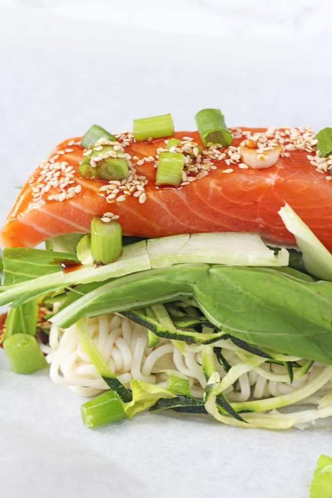 Salmon Noodle Parcels